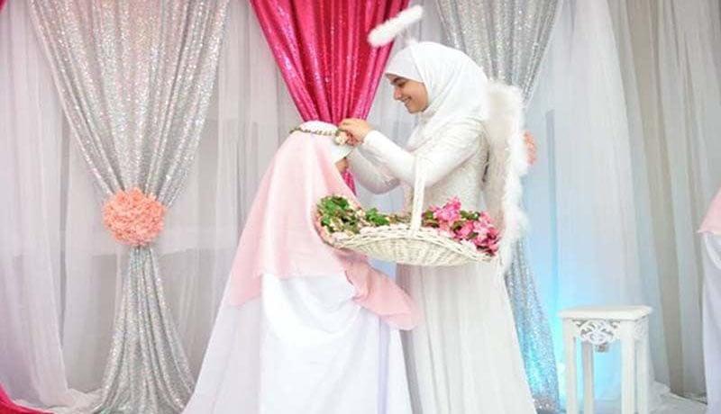 دوخت چادر نماز جشن تکلیف